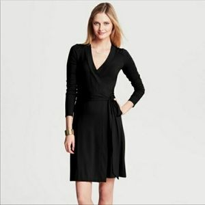 Banana Republic Black Gemma Wrap Dress